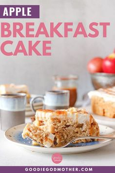 An easy apple breakfast cake is a great way to start the day! This breakfast cake recipe can be made the night before - perfect for holidays or lazy weekend mornings - and is a great way to use fresh apples!