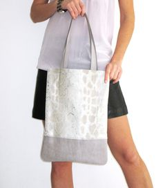 Handcrafted Leather // Metallic gray Snakeskin by gmaloudesigns, $99.99
