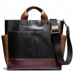 Bleecker Utility Tote in Leather and Suede from Coach