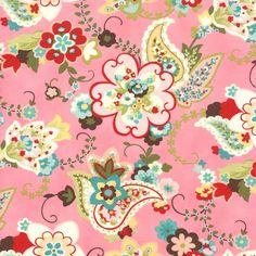 Pink Chez Moi From Moda 1 Yard by StitchStashDiva on Etsy, $8.95