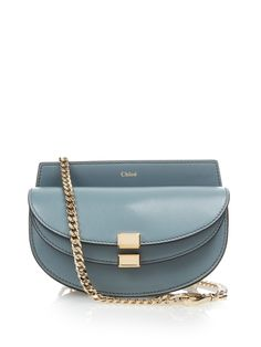 Chloé | Blue Georgia Leather Cross-body Bag | Lyst
