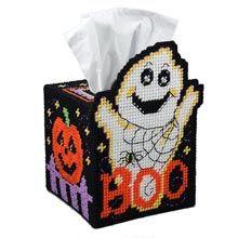 Ghost Tissue Box Plastic Canvas Kit - Herrschners