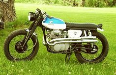 This is Mickeys very nice 68 CL350 Scrambler. He wanted me to show it off. If I hadnt found my bike, I would have been looking for a scrambler.