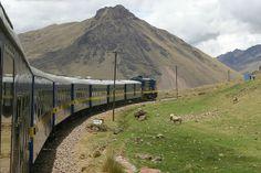 Orient Express Train out of Cusco, Peru