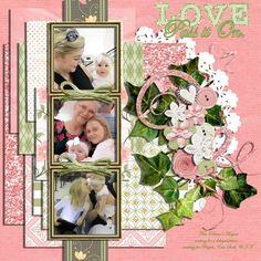 LOVE: Pass it On, digital layout by MimaScraps/Lori