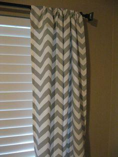 White And Gray Zig Zag Drape Panel | Chevron Curtains, Zig Zag And Baby  Checklist
