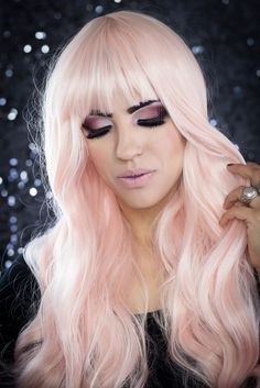 Cream Pink Blonde Gothic Lolita Harajuku Cosplay Lush Wig - Worldwide Tracked Delivery