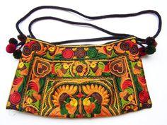 Bolso de hombro, bolso bordado de Siamrose Art & Decor por DaWanda.com