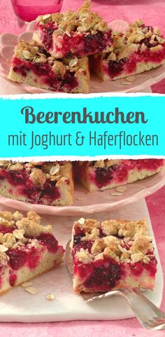 Juicy berry cake with oat sprinkles - made easy - kuchen - Banana Recipes Apple Crisp Recipes, Banana Recipes, Donut Recipes, Ice Cream Recipes, Cupcake Recipes, Snack Recipes, Snacks, Healthy Banana Muffins, Keto Donuts