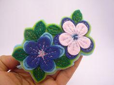 Diadema de flores de fieltro por ynelcas en Etsy