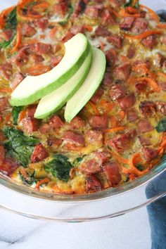 Sweet Potato Spinach & Chicken Sausage Frittata