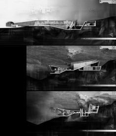 Rendering using charcoal to represent a space