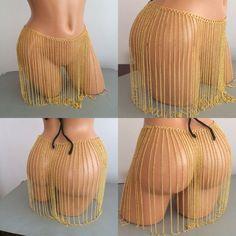 chain miniskirt chain skirt body chain body jewelry by MukoShop
