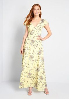 You're Flowing Places Maxi Cotton Dress in 4 - A-Line by Yellow Maxi Dress, Bridesmaid Dresses Online, Wedding Dresses, Cotton Dresses, Maxi Dresses, A Line Skirts, Fashion Dresses, Modest Fashion, Clothes For Women