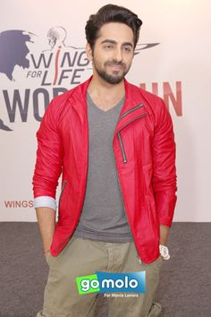 Ayushmann Khurrana at the Press meet of 'Wings For Life World Run' in New Delhi