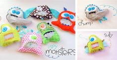 Adorable I SPY MONSTER Bags! 10 bright and funky monsters available