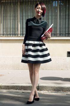 Paris Street Style spring 2014 | Street Style- Paris Fashion Week Spring/Summer 2014 (Image ...