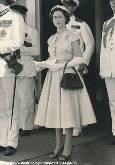 DATE:February 1955 D:Princess Margaret at airport in Port-of-Spain,Trinidad /original photo Princess Elizabeth, Royal Princess, Queen Elizabeth Ii, Margaret Rose, Port Of Spain, Duchess Of Cambridge, British Royals, Trinidad, I Dress