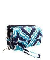 Quilted Blue IKAT Phone Wallet  #snapchatus #sale #monogrameverything #lovespring #2017fashion #newarrival #accessoriesontheboardwalk #springishere #beachlife #preplife