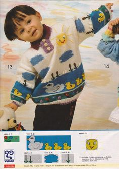 43 ideas crochet baby boy sweater pattern fair isles for 2019 Knitting For Kids, Crochet For Kids, Baby Knitting, Crochet Baby, Knit Crochet, Crochet Sole, Crochet Gloves, Intarsia Knitting, Baby Boy Sweater