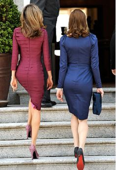 (L-R) Princess Letizia of Spain and First Lady of France Carla Bruni-Sarkozy