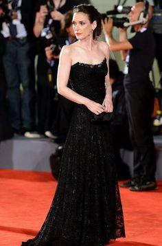 Winona Ryder en la segunda jornada del Festival de Cine de Venecia