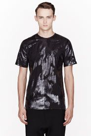 J.W.ANDERSON Black & Navy lacquered ANIMAL PRINT T-SHIRT