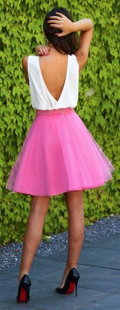 Pink Tulle Skirt #Fashionistas