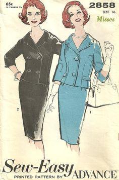 Advance 2858 Vintage Sewing Pattern