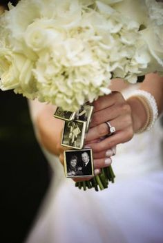 Charms: Keep your loved ones close with the sentimental addition of wedding charms ($14) to your bridal bouquet. How cool is this if you have people you want to remember on your special day