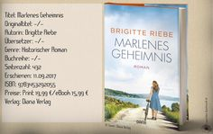 """""""Marlenes Geheimnis"""" erzählt eine packende Familiengeschichte in der heutigen Zeit und zur Zeit des Zweiten Weltkrieges. Ein absoluter Lesegenuss mit Höhen und Tiefen, den man einfach gelesen haben muss. ~ facettenreiche Charaktere ~ mitfiebern bis zur letzten Seite ~ ein historischer Roman mit Herz und Leidenschaft geschrieben."""