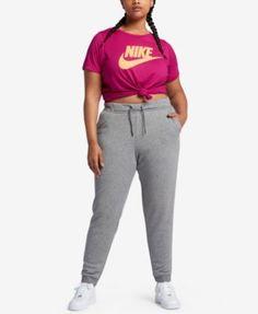 Nike Plus Size Futura Logo T-Shirt - Carbon Heather 1X