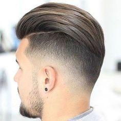 Men's Slicked Back Haircut - Best Men's Slicked Back Hair + Undercut Hairstyles For Men Best Undercut Hairstyles, Cool Hairstyles For Men, Hairstyles Haircuts, Haircuts For Men, Latest Hairstyles, Male Undercut, Modern Undercut, Boys Undercut, Undercut Fade