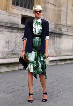 Lanvin jacketDries Van Noten dress