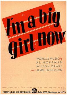 AL HOFFMAN - MILTON DRAKE - JERRY LIVINGSTON - I'M A BIG GIRL NOW 1946 MUSIKNOTE