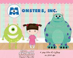 Monsters, INC. digital clipart via Etsy