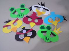 angry birds costume mask...because my son decided he wants to be an angry bird today...the day of our harvest party!
