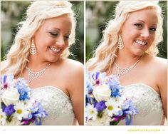 Wedding day hair style: Hair half up with an elegant tiara for accent.  Beautiful Bridal Hair!  www.adamplusalli.com