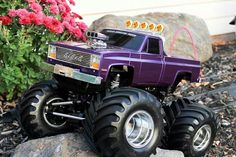One very beautifully built Tamiya Clod Buster 4X4X4 Radio Controled Monster Truck.