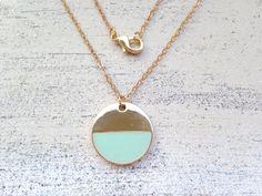 ● Geometrisch▼Kreis vergoldet Kette MINT von MiMaMeise ♥  auf DaWanda.com