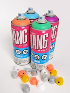 DANG + CAPS Pack Graffiti Spray Paint, Paint Paint, Spray Paint Cans, Water Bottle, Packing, Cap, Search, Bag Packaging, Baseball Hat