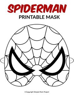 Are you looking for Spiderman birthday party ideas? Use this FREE printable boys Spiderman mask template for your kids coloring costume or use them as party favors for his special day! They also make fantastic coloring crafts! Printable Masks, Printable Crafts, Free Printables, Spiderman Craft, Coloring For Kids, Coloring Pages, Coloring Sheets, Superhero Mask Template, Crafts