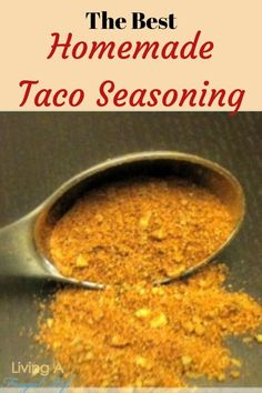 make taco seasoning Enjoy any dish made with taco seasoning by making this homemade taco seasoning recipe. This recipe is dairy and soy free so it works for those with allergies. Make Taco Seasoning, Taco Seasoning Packet, Seasoning Recipe, Healthy Recipes On A Budget, Great Recipes, Frugal Recipes, Recipe Ideas, Dinner Recipes, Favorite Recipes