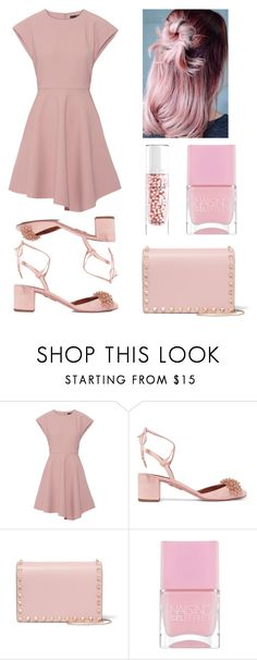 """softttt💓"" by alda-naura ❤ liked on Polyvore featuring TIBI, Aquazzura, Valentino, Nails Inc. and Guerlain"