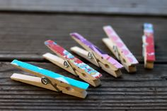 fabric covered clothespins