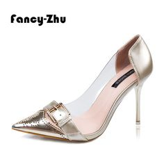 Find More Women's Pumps Information about New sexy pointy cutout toe with belt transparent women shoes high heels design comfortable pumps wedding shoes sapatos feminino,High Quality shoe time shoes,China shoes high heels red Suppliers, Cheap shoe tshirts from Fancy-Zhu on Aliexpress.com