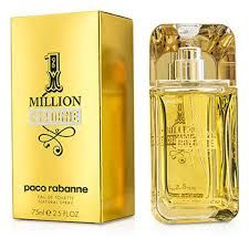 Autumn perfume for men 1 Million Cologne By Paco Rabanne . Indulge in a bed of luxurious gold essences when you spritz yourself with 1 Million Cologne. Designed for men, this aromatic mist is made of  refined and exquisite elements that epitomize a man of charisma and elegance. Launched in 2008, this masculine fragrance is inspired by the 1967 dress of a French singer that was designed by Paco Rabanne.