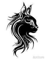 Maine Coon Cat Logotype by Avestra
