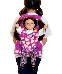 e67cf5a6fe95 The Queen s Treasures Purple Kid s Backpack with Doll Carrier   Sleeping Bag
