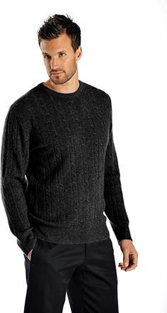 Mens Cable Knit Sweater, Polo Sweater, Men Sweater, Cashmere Wool, Cashmere Cardigan, Cashmere Sweaters, Really Cool Stuff, Crew Neck, Pure Products